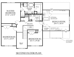 Floor Plan House 3 Bedroom House Plan 2168 A Cedar Creek 2nd Floor 2168 Square Feet 52 U0027 8