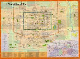 China City Map by Xi U0027an Travel Maps Printable Hi Res Tourist Map Of Xian China