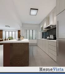 Home Concepts Interior Design Pte Ltd 4 Room Hdb Bto Open Concept Kitchen At Fernvale Link