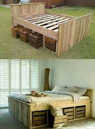 King Size Platform Bed Designs by Best 25 Diy Bed Frame Ideas On Pinterest Pallet Platform Bed