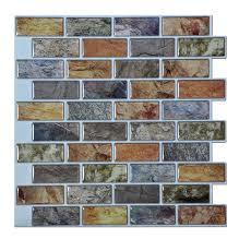 amazon com art3d peel u0026 stick bathroom kitchen backsplash tiles