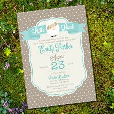 little lamb baby shower invitation for a boy or unisex