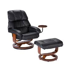 Brown Leather Task Chair Amazon Com Bonded Leather Recliner And Ottoman Black Kitchen
