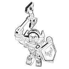 lego nexo knights ridder axl coloring pages for kids