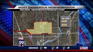Crime Map By Zip Code by Two Indianapolis Neighborhoods Ranked Among Nation U0027s Most