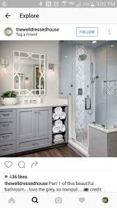 best 25 vertical shower tile ideas on pinterest large tile heringbone accent tile is arizona tile grey polished mesh grey subway tile is a arizona tile h line grey bathroom tiling tracy lynn studio love this