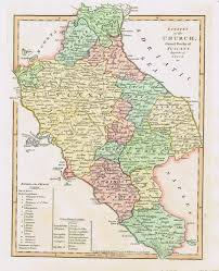 Tuscany Map Estates Of The Church Grand Duchy Of Tuscany Sold