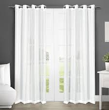 108 Inch Long Blackout Curtains by Amazon Com Exclusive Home Curtains Apollo Sheer Grommet Top
