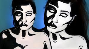 black u0026 white graphic pop art makeup tutorial youtube