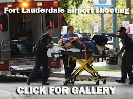 dead in Ft  Lauderdale airport shooting   wptv com One witness said the attacker gunned down his victims without a word and kept shooting until he ran out of ammunition for his handgun  sending panicked