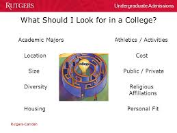 The College Admissions Process  Rutgers Camden Undergraduate     SlidePlayer