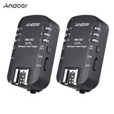 andoer ws 16c e ttl wireless flash trigger transceiver 2 4ghz
