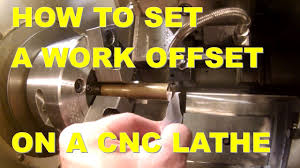 how to set a work offset on a cnc lathe youtube