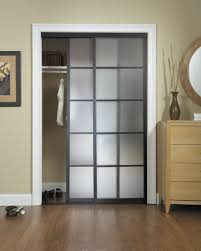 furniture white sliding closet door options with wooden chest