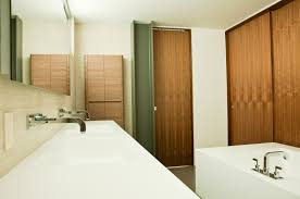 Modern Walnut Bathroom Vanity by Modern Manhattan Beach Residence Opens Up And Let U0027s Nature In