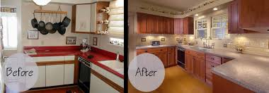 Oak Kitchen Cabinets Refinishing Before And After Pictures Of Refinishing Kitchen Cabinets Kitchen