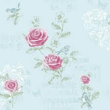 Shabby Chic Pink Wallpaper by Duck Egg M0833 Jenny Wren Rose Birds Butterfly Shabby Chic
