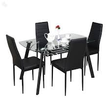 dining table set online mumbai creditrestore us glass top metal leg target dining table with set of 4 dining chairs in black for