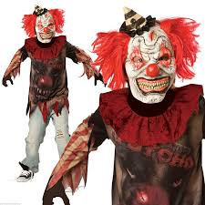 new kids halloween evil sideshow clown boys fancy dress party