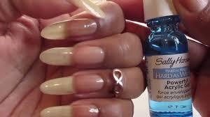 sally hansen hard as nails hard as wraps for natural nails youtube
