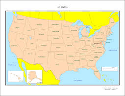 Blank Map Of The United States Of America by United States Labeled Map