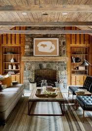 Exposed Beam Ceiling Living Room by Connecticut Farmhouse Restoration