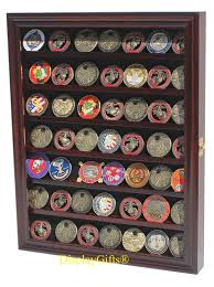 Used Kitchen Cabinets Ma Amazon Com 56 Military Challenge Coin Display Case Cabinet Rack
