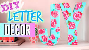 Metal Decorative Letters Home Decor Diy Room Decorations Easy Floral Block Letters Youtube Idolza