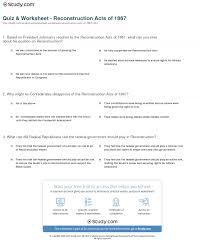 Cuneiform Activity Worksheet Quiz U0026 Worksheet Reconstruction Acts Of 1867 Study Com