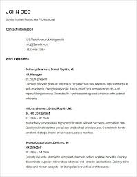 Resume Sample For Human Resource Position by Basic Resume Template U2013 51 Free Samples Examples Format