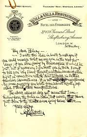Correspondence from Chesterton to Hilary Belloc John J  Burns Library s Blog   WordPress com