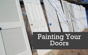 Professional Spray Painting Kitchen Cabinets How To Spray Doors Painting Doors With A Paint Sprayer Spraying
