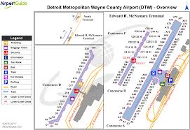 Map Of Detroit Metro Airport by Detroit Detroit Metropolitan Wayne County Airport Dtw