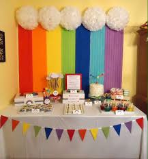 Background Decoration For Birthday Party At Home Making Life A Party U201chi Five U201d Five Year Old Birthday Party