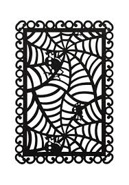 rectangular black spider web placemat