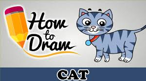 how to draw a cute cat easy step by step cartoon art drawing