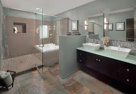 bathroom floor design charming travertine cobblestone tile