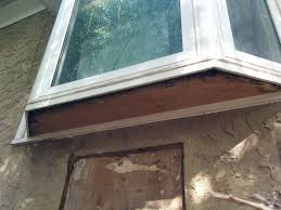 how to repair rotten plywood board under vinyl bay bow window