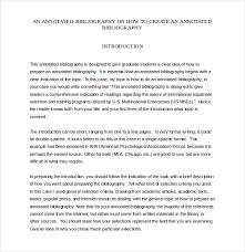 Free Annotated Bibliography Template PDF Format Download