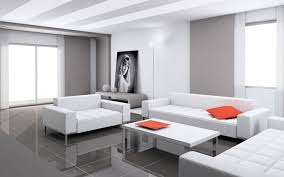 Cute white of Minimalist Living Room Design