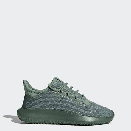 adidas Youth Tubular Shadow Sneakers Green- Kids