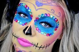 The 15 Best Sugar Skull Makeup Looks For Halloween Halloween by Sugar Skull Makeup Colorful Youtube