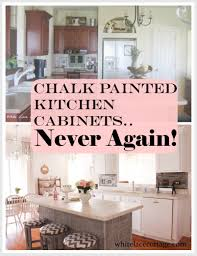 chalk painted kitchen cabinets never again white lace cottage