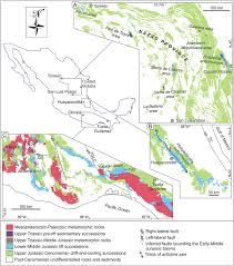 San Luis Potosi Mexico Map by Tectono Stratigraphic Evolution Of Eastern Mexico During The Break