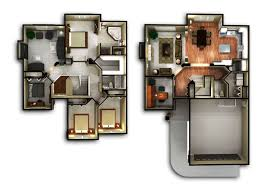 2 story 3d home plans with floor house ideas images yuorphoto com