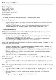Sample Medical Technologist Resume by Medical Technologist Resume Summary Corpedo Com