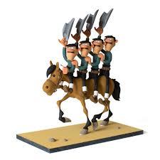 collectible figure fariboles lucky luke dalton horseback