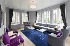 purple white and grey living room house design ideas