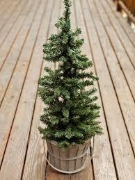 outdoor holiday decorating idea mini christmas tree hgtv