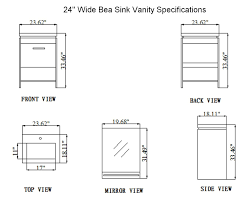 24 Inch Kitchen Cabinet by 24 Inch Bea Vanity Space Saving Vanity Contemporary Sink Cabinet